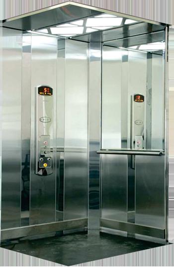 Modelo Colibri - Combinação de painéis em aço inox escovado e aço inox espelhado